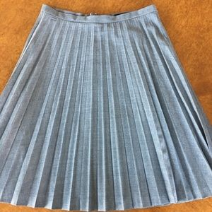 J.Crew pleated wool skirt